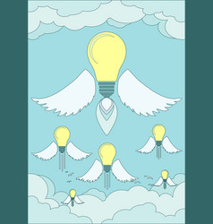 Bright idea light bulb concept vector