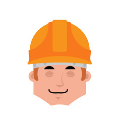 builder sleep emotion avatar worker in protective vector image
