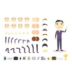 Businessman character creation set build your own vector