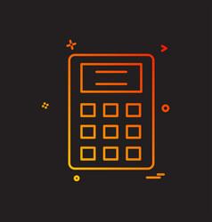 calculator school icon design vector image