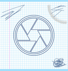 camera shutter line sketch icon isolated on white vector image