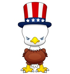 Cartoon American patriotic eagle vector image