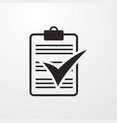Check blank sign icon vector