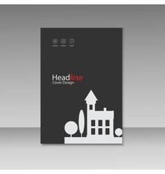 City design brochure template vector image