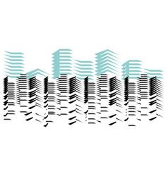 City skyline icon vector