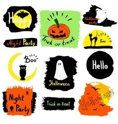 Collection halloween banners Beautiful halloween vector