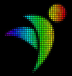 Colored pixel winged man icon vector
