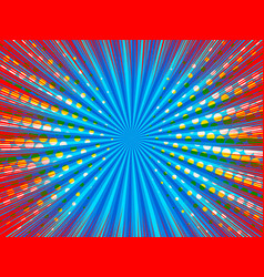 Comic explosion horizontal background vector