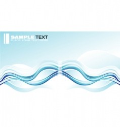 concept wave graphic card vector image