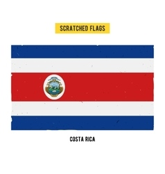 Costa rican grunge flag vector