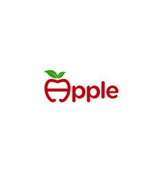 Creative and simple apple for vitamin or nutrition vector