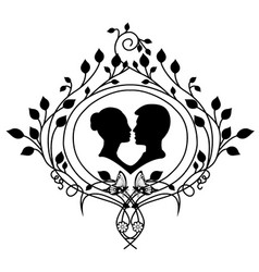 Design element wedding and flourishes vector