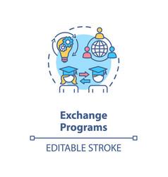 exchange programs concept icon vector image