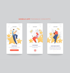 feedback survey flat app concept with vector image