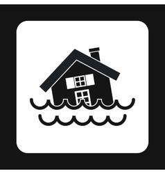 Flood icon simple style vector