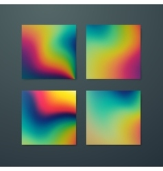 Fluid iridescent multicolored background vector