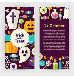 Flyer Template of Flat Design Halloween Trick or vector