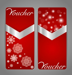 Gift coupon with gold ribbon vector
