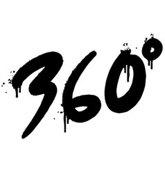 graffiti 360 degrees sprayed isolated on white vector image