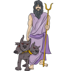greek god hades cartoon vector image