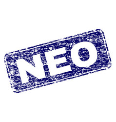 Grunge neo framed rounded rectangle stamp vector