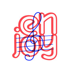 hand draw treble clef icon in doodle style for vector image