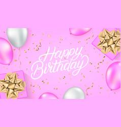 happy birthday festive background vector image