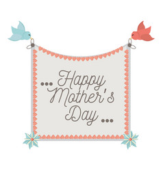 Happy mothers day card invitation vector