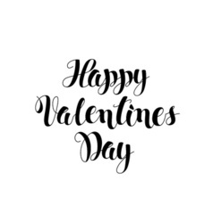 Happy Valentines day lettering card Modern brush vector