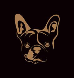Head dog vector