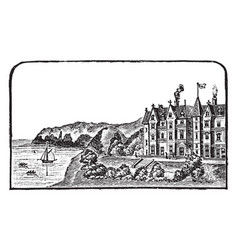imperial hotel vintage vector image