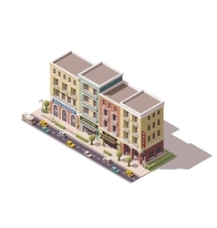 isometric town street vector image