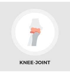 Knee-joint flat icon vector image