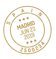 Madrid postage stamp vector