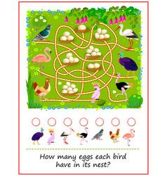Math education for children how many eggs each vector
