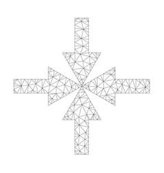 mesh compress arrows icon vector image