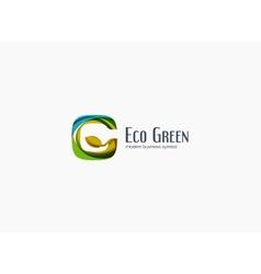 Modern G letter green eco concept company logo vector image