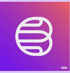 Modern professional logo monograma b in purple vector