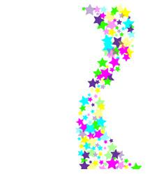 Multicolored scattered chaotically confetti-stars vector