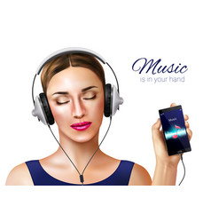 music in hand composition vector image