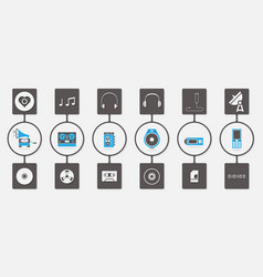 Music media infographic icon set vector