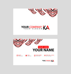 New simple business card is red black vector