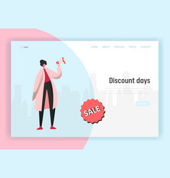 online sale for landing page shopping vector image