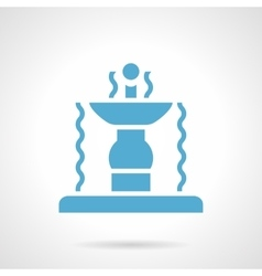 Outdoor fountain glyph style icon vector