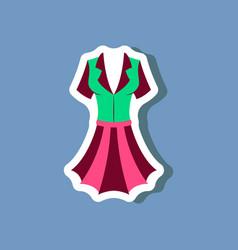 Paper sticker fashion clothes summer dress vector