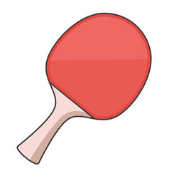 Ping pong paddle icon cartoon style vector