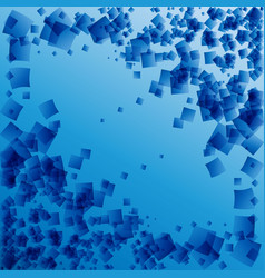 postcard from blue rhombuses on a blue background vector image