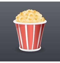 Realistic Popcorn Fast Food Icon Retro Cartoon vector