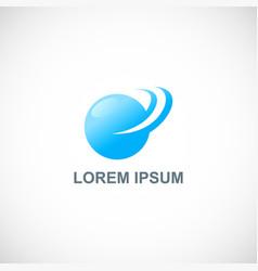 round abstract loop ball logo vector image
