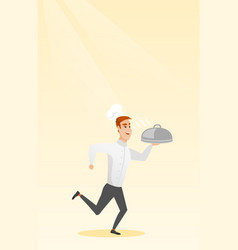Running chef cook vector